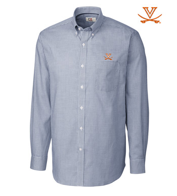 University of Virginia Tattersall Long Sleeve Sport Shirt