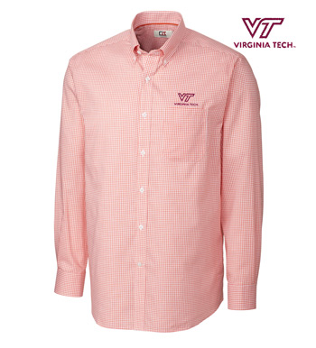 Virginia Tech Tattersall Long Sleeve Sport Shirt