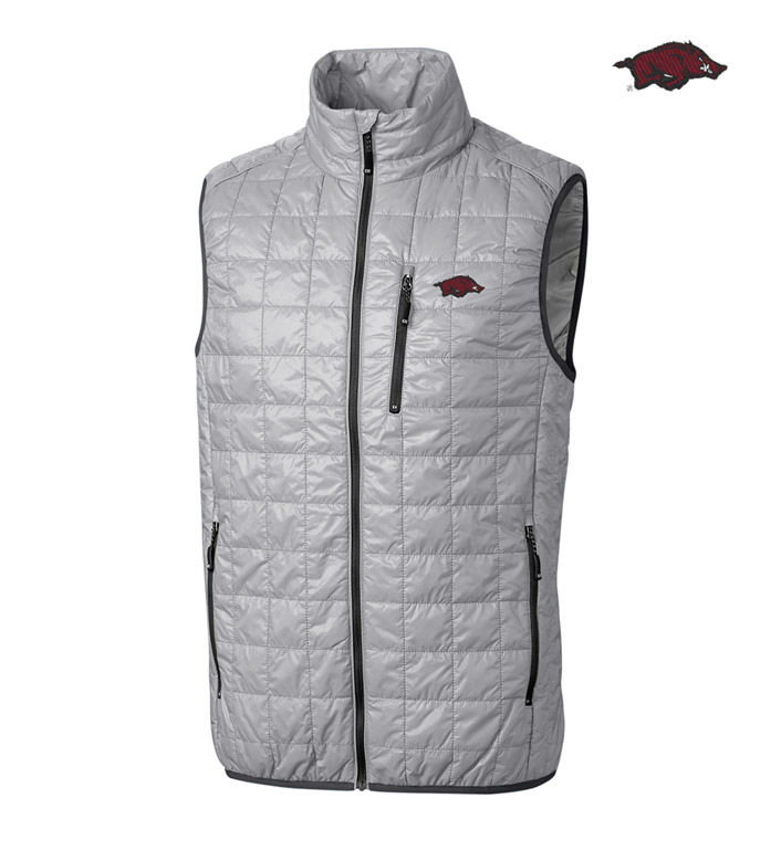 Cutter & Buck University of Arkansas Insulated Full-Zip Vest