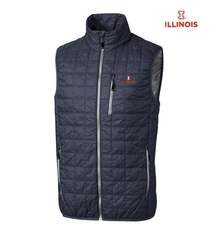 Cutter & Buck University of Illinois Insulated Full-Zip Vest