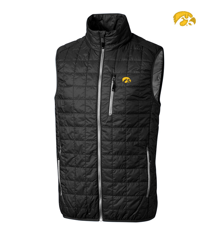 Cutter & Buck University of Iowa Insulated Full-Zip Vest