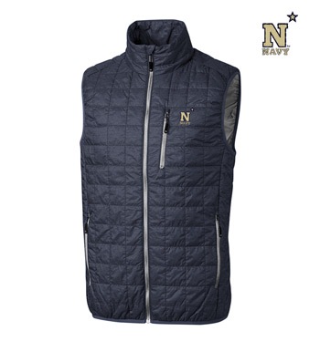 Navy Insulated Full-Zip Vest