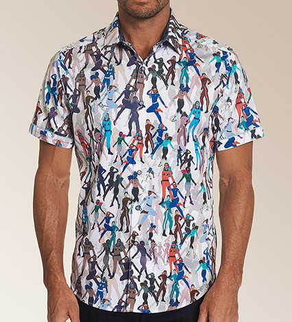 Trixie Short Sleeve Woven Sport Shirt