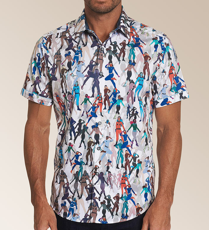 Robert Graham Trixie Short Sleeve Woven Sport Shirt