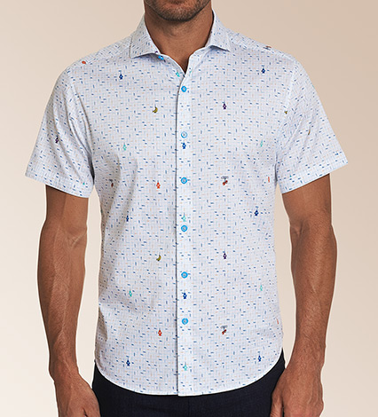Car Wash Short Sleeve Woven Sport Shirt