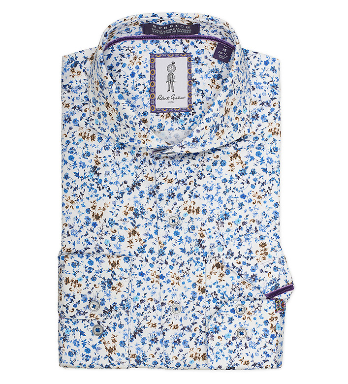 Robert Graham Mullins Floral Stretch Dress Shirt