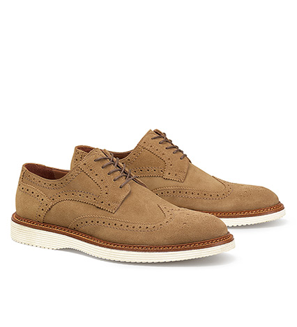 Rogan Suede Wingtip Oxford Shoe