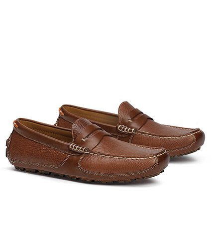 Derek Bison Leather Moccasin