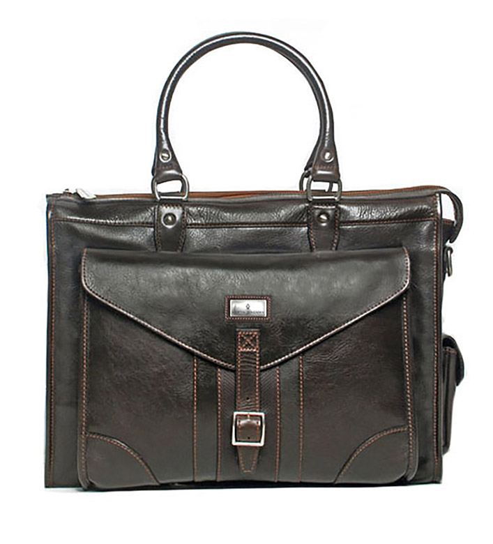 Martin Dingman Martingale Leather Brief Bag