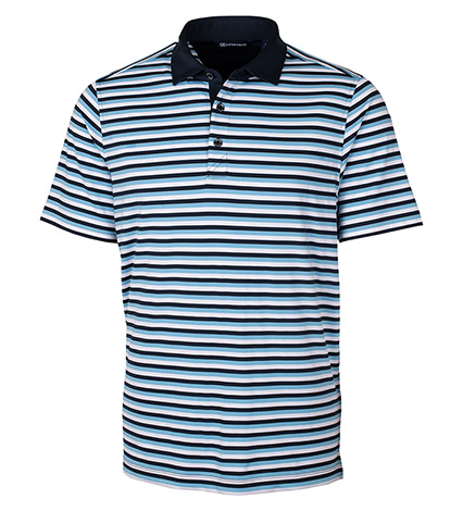 Forge Multi Stripe Short Sleeve Polo Shirt