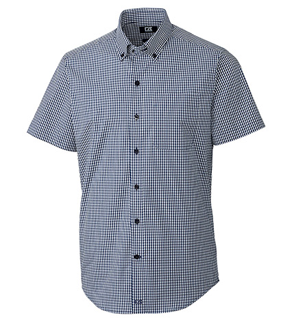 Anchor Short Sleeve Stretch Gingham Sport Shirt