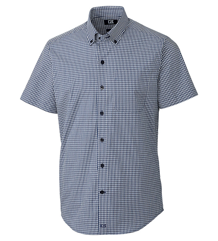 Cutter & Buck Anchor Short Sleeve Stretch Gingham Sport Shirt