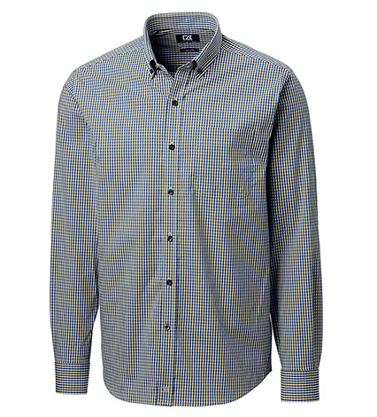 Anchor Long Sleeve Stretch Gingham Sport Shirt