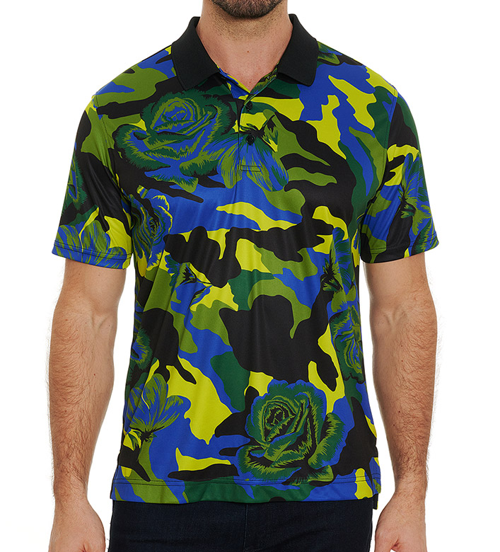 Robert Graham Bed Of Roses Short Sleeve Polo Shirt