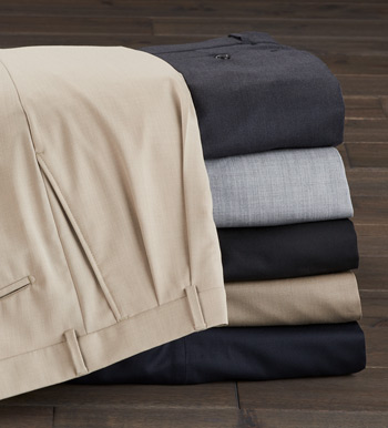 Comfort-Eze Gabardine Pleated Slacks