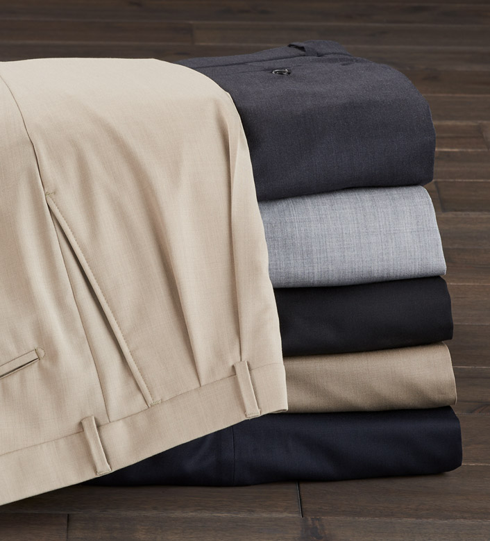 Patrick James Comfort-Eze Gabardine Pleated Slacks