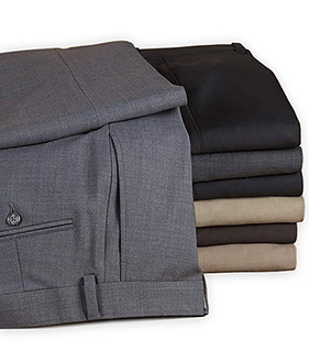 Riviera Wash Wool Flat Front Slacks