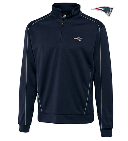 Cutter & Buck New England Patriots Edge Half-Zip Pullover