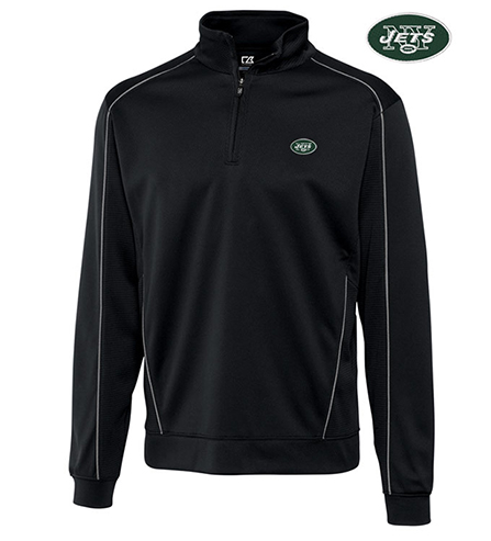 Cutter & Buck New York Jets Edge Half-Zip Pullover