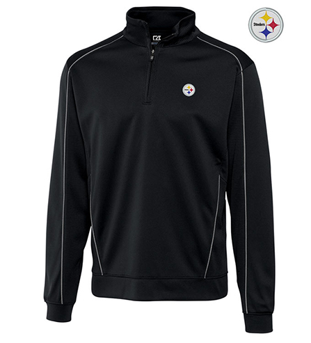Cutter & Buck Pittsburgh Steelers Edge Half-Zip Pullover