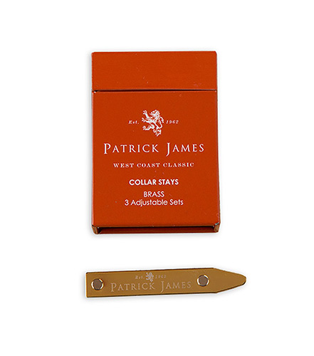 Patrick James Brass 3-Pack Collar Stays