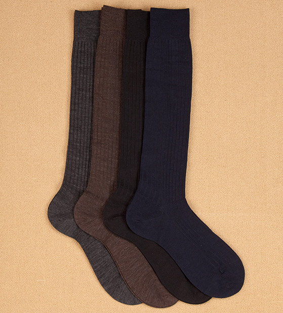 Pantherella Superfine Merino Over-the-Calf Socks