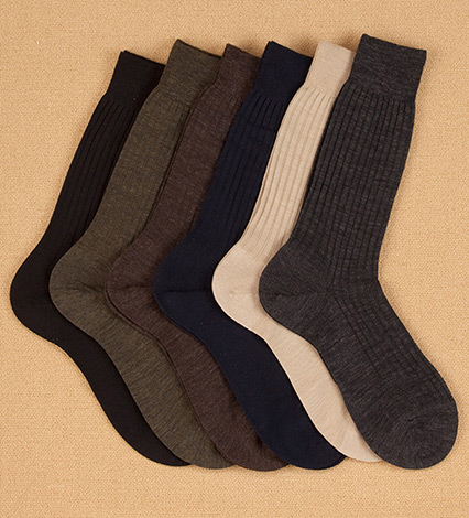 Superfine Merino Midcalf Socks