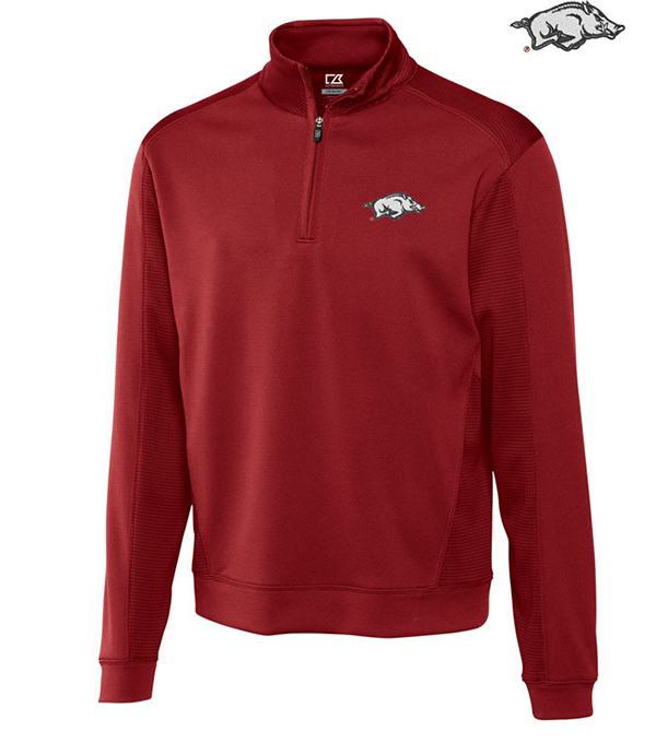 Cutter & Buck University of Arkansas Edge Half-Zip Pullover