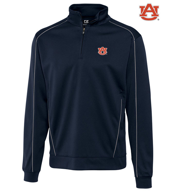 Cutter & Buck Auburn University Edge Half-Zip Pullover