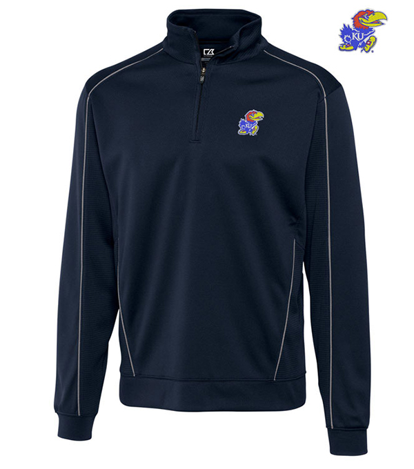 Cutter & Buck University of Kansas Edge Half-Zip Pullover