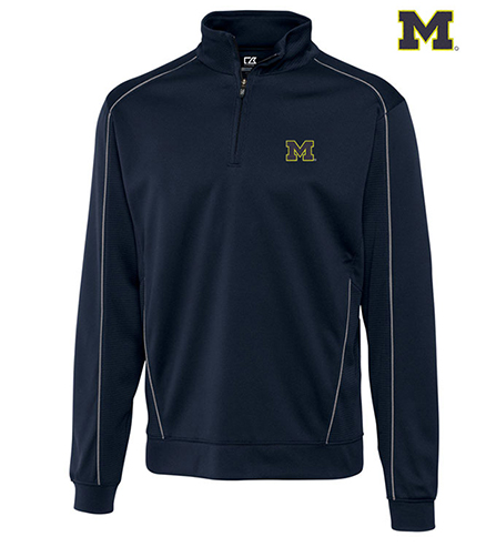 Cutter & Buck University of Michigan Edge Half-Zip Pullover