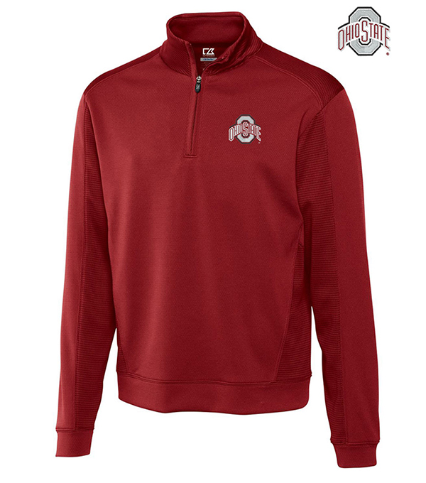 Cutter & Buck Ohio State University Edge Half-Zip Pullover