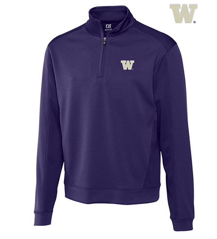Cutter & Buck University of Washington Edge Half-Zip Pullover