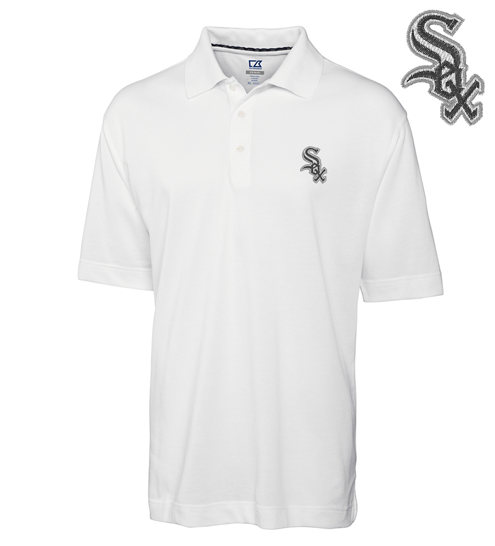 Cutter buck chicago white sox championship polo for Cutter buck polo shirt size chart