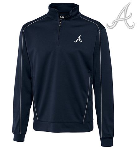 Cutter & Buck Atlanta Braves Half Zip Pullover