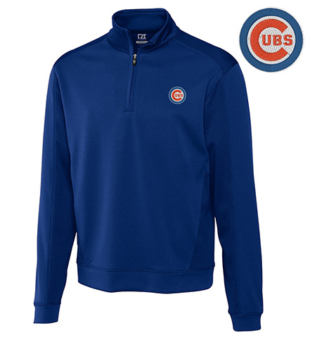 Cutter & Buck Chicago Cubs Half-Zip Pullover