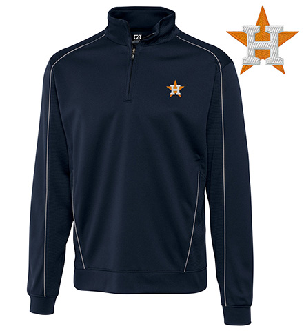 Cutter & Buck Houston Astros Half-Zip Pullover