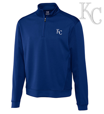 Cutter & Buck Kansas City Royals Half-Zip Pullover