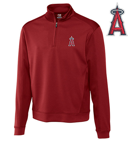 Cutter & Buck Los Angeles Angels Half-Zip Pullover