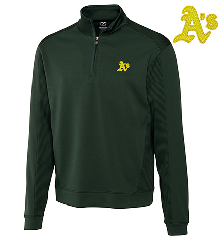 Cutter & Buck Oakland Athletics Half-Zip Pullover