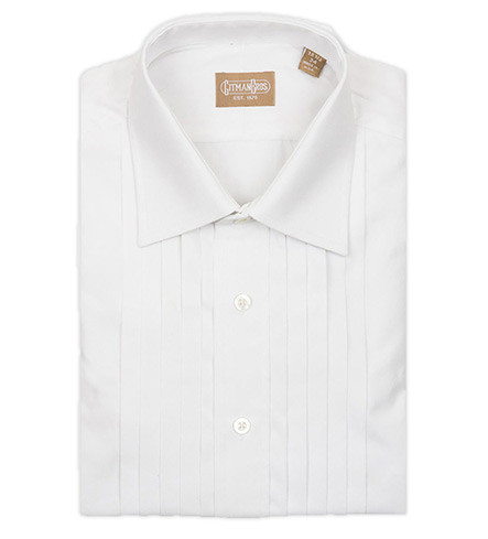 Gitman Brothers Long Sleeve Formal Five-Pleat Dress Shirt
